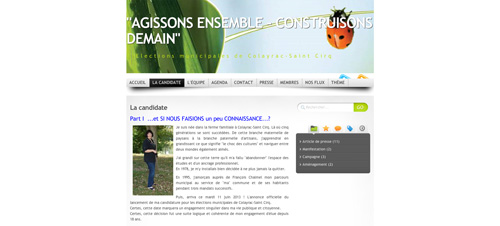 La candidate    AGISSONS ENSEMBLE   CONSTRUISONS DEMAIN